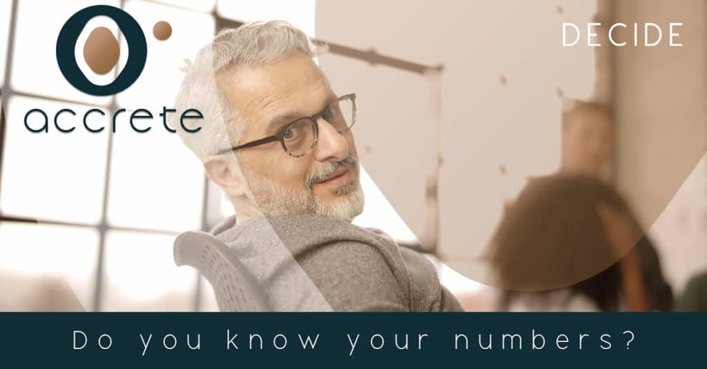 Know your numbers.