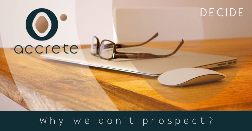 Why salespeople don't prospect